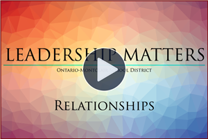 "Leadership Matters - ""Relationships"" featuring Principals Cristina Raskovic & Nick Najicek - Click here to watch video"