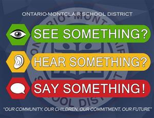 See Something, Hear Something, Say Something Safety Logo