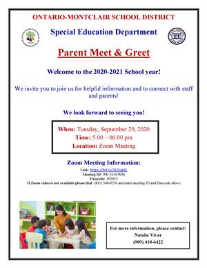 Parent Meet & Greet English