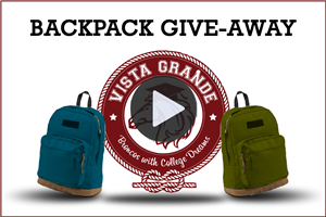 Vista Grande Backpack Give-away - Video