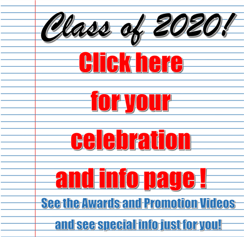 Click for link to CLass of 2020 Celebration Page