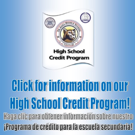 Click for more information about our high school credit program