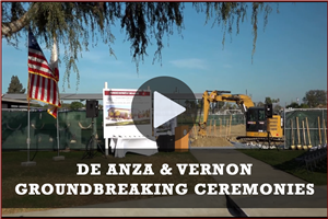 VIDEO: De Anza & Vernon Groundbreaking Ceremonies