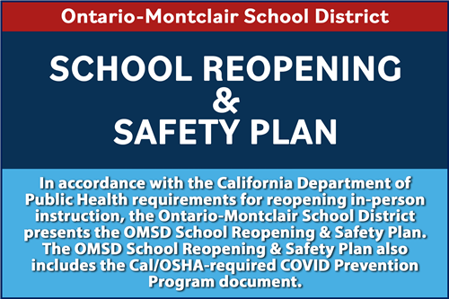 OMSD - School Reopening & Safety Plan - Click Here to View.