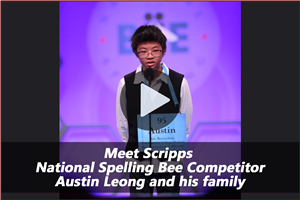 Video: Meet Scripps National Spelling Bee Competitor - Austin Leong and his family