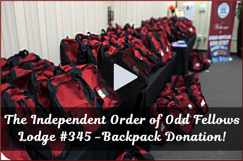 VIDEO: The Independent Order of Odd Fellows Lodge #345 - Donates Backpacks to OMSD Students!