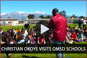 Christian Okoye visits OMSD Schools - Video