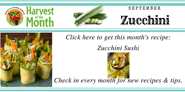 Click here for sushi recipe with peppers, carrots, cucumber, wrapped in zucchini