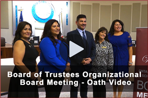 Board of Trustees Organizational Board Meeting - Oath Video