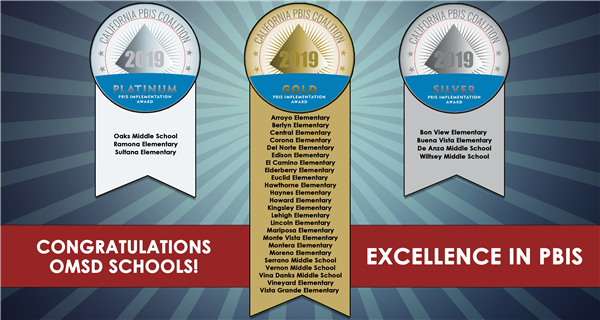 Congratulations OMSD Schools! - On Excellence in PBIS!