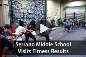 "Serrano Middle School students visit Local Gym ""Fitness Results"""
