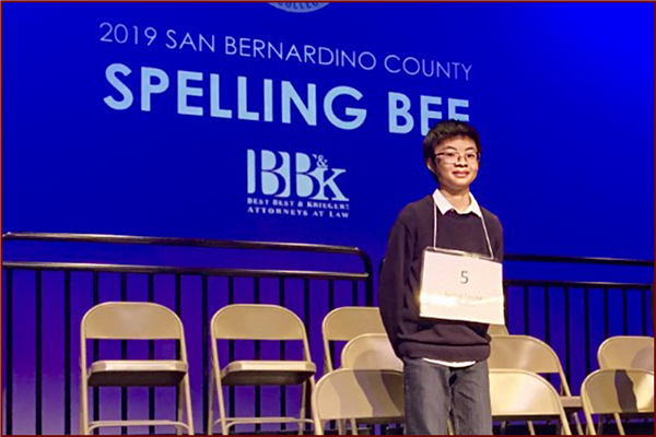 OMSD Spelling Bee Champion - Austin Leong is headed to represent OMSD at Scripps National Spelling Bee!