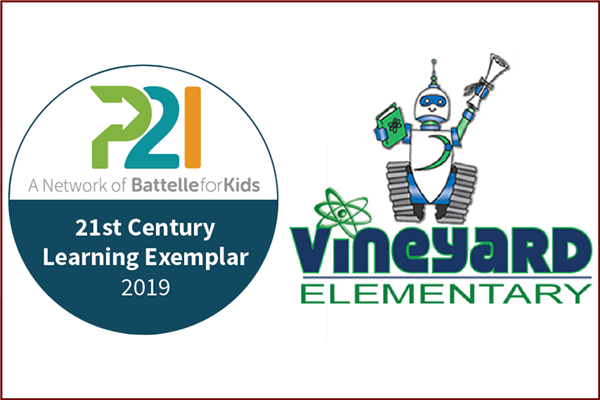 Vineyard STEM Magnet School named a 21st Century Learning Exemplar