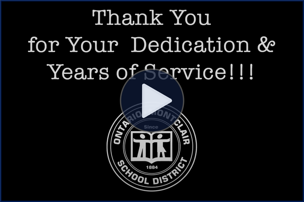 OMSD Celebrates Employees with 25 & 40 Years of Service! - Click here to view the video.