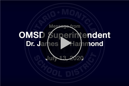 "Important Message from Superintendent Dr. James Q. Hammond regarding ""Return to School"" - Video"