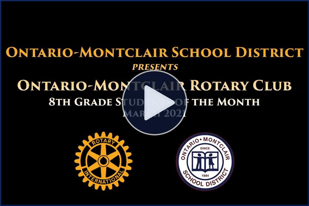 Meet OMSD's March 8th Grade Rotary Students of the Month - Click here to view.