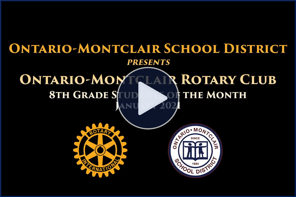 Meet OMSD's January 8th Grade Rotary Students of the Month - Click here to view.