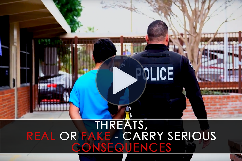 VIDEO: Threats - Real or Fake - Carry Serious Consequences!
