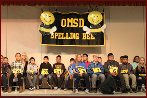 OMSD Students demonstrate their spelling skills!