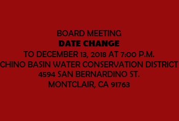 Notice: December 6, 2018 Board Meeting moved to December 13, 2018